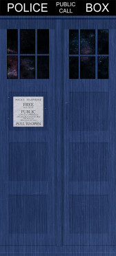 Sticker Porte Tardis Docteur Who - Stickers Déco Porte