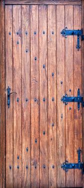 Sticker Porte en Vieux Bois 2 - Stickers Déco Porte