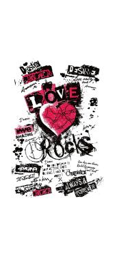 Sticker Frigo Graffiti Love Rocks - Stickers Déco Frigo