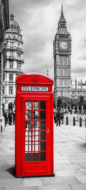 Sticker Frigo Cabine Téléphone Big Ben Londres - Stickers Déco Frigo
