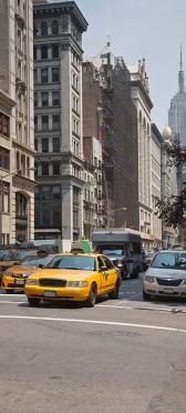 Sticker Frigo New York Taxis - Stickers Déco Frigo