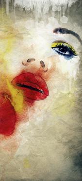 Sticker Frigo Peinture Visage Femme - Stickers Déco Frigo