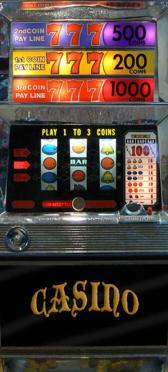 Sticker Porte Machine A Sous Casino - Stickers Déco Porte