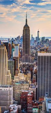 Sticker Porte Empire State Building New York - Stickers Déco Porte