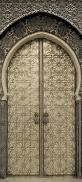 Sticker Porte Orientale En Metal 1 - Stickers Déco Porte