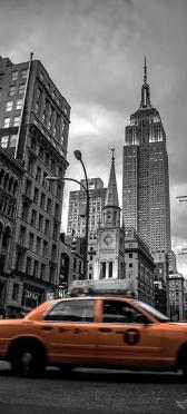 Sticker Porte New York City Taxi - Stickers Déco Porte