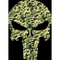 Sticker Punisher Camouflage