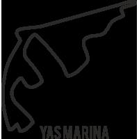 Sticker Circuit Yas Marina