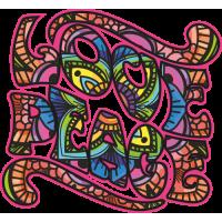 Sticker Love Peace Mandala Trippy