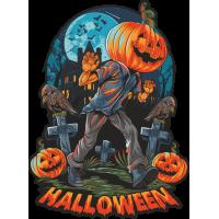 Stickers Halloween Pumpkin Head Citrouille