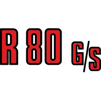 Sticker BMW R 80 GS Rouge