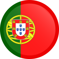 Autocollant Drapeau Portugal rond bouton