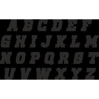 Planche Sticker Lettres N°5