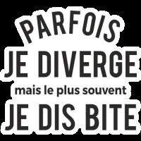 Sticker Parfois je diverge
