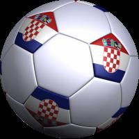 Sticker ballon foot croatie