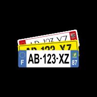 PLAQUE MOTO 18x5 cm (Non-Homologuée)