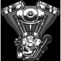 Sticker Moteur V 2