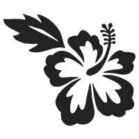 stickers hibiscus