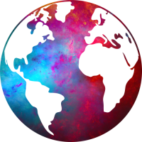 Sticker Monde Mappemonde Globe Couleurs 2