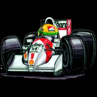 Autocollant F1_McLaren_Senna