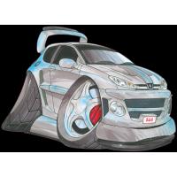 Autocollant 1054-Peugeot 206