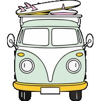 Autocollant Combi Van Surf