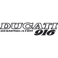 Sticker Ducati Desmoquatro 916 Droite