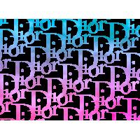 Autocollant Dior Motif monograme