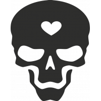 Sticker Skull Heart