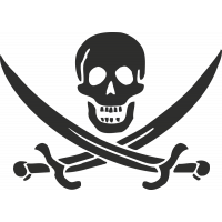 Sticker Skull Pirate