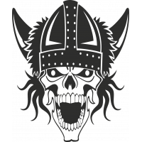 Sticker Skull Viking