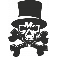 Sticker Skull Chapeau