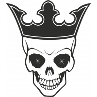 Sticker Skull Crown