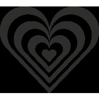 Sticker Cœur 10