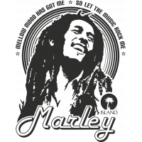 Sticker Bob Marley Mellow Mood
