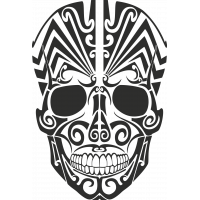 Sticker Tribal Skull