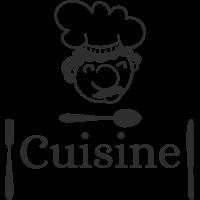 Sticker Cuisine Couverts
