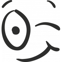 Sticker Smiley Clin D'œil