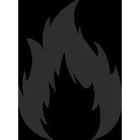 Sticker Flamme 2