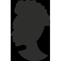 Sticker Femme Visage Silhouette 3