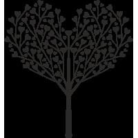 Sticker Arbre Cœur