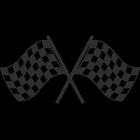 Sticker Racing Drapeau