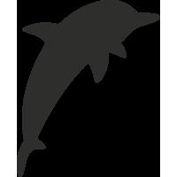Sticker Dauphin Silhouette 3