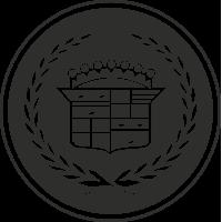 Sticker Cadillac Logo Noir