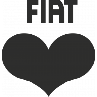 Sticker Fiat Cœur