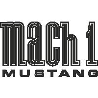 Sticker Mustang Mach1