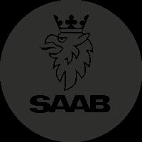 Sticker Saab Logo