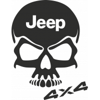 Sticker Jeep 4x4 Skull