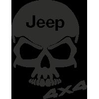 Sticker Jeep 4x4 Skull