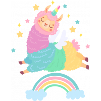 Sticker Lama Arc en Ciel